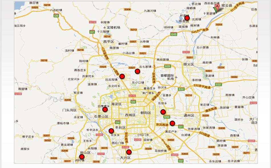 北京市良乡地图